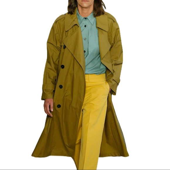 Mycra Pac Lime Green Trench Coat NWT